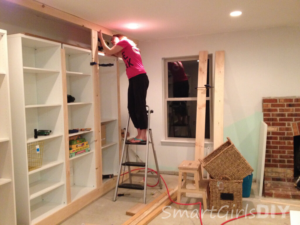 Attaching top piece to ceiling - Copy