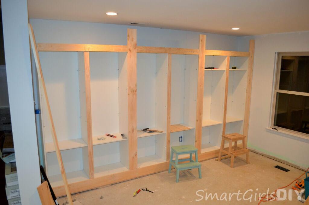 BESTA Built-in bookshelves for family room