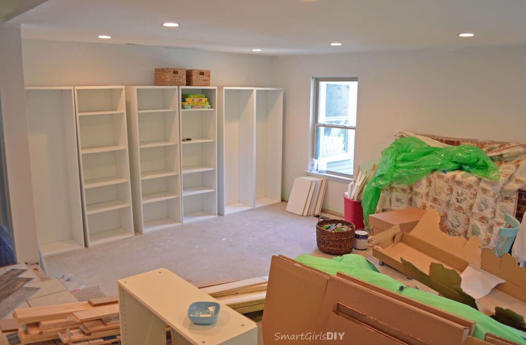 BESTA bookshelves will become built-ins