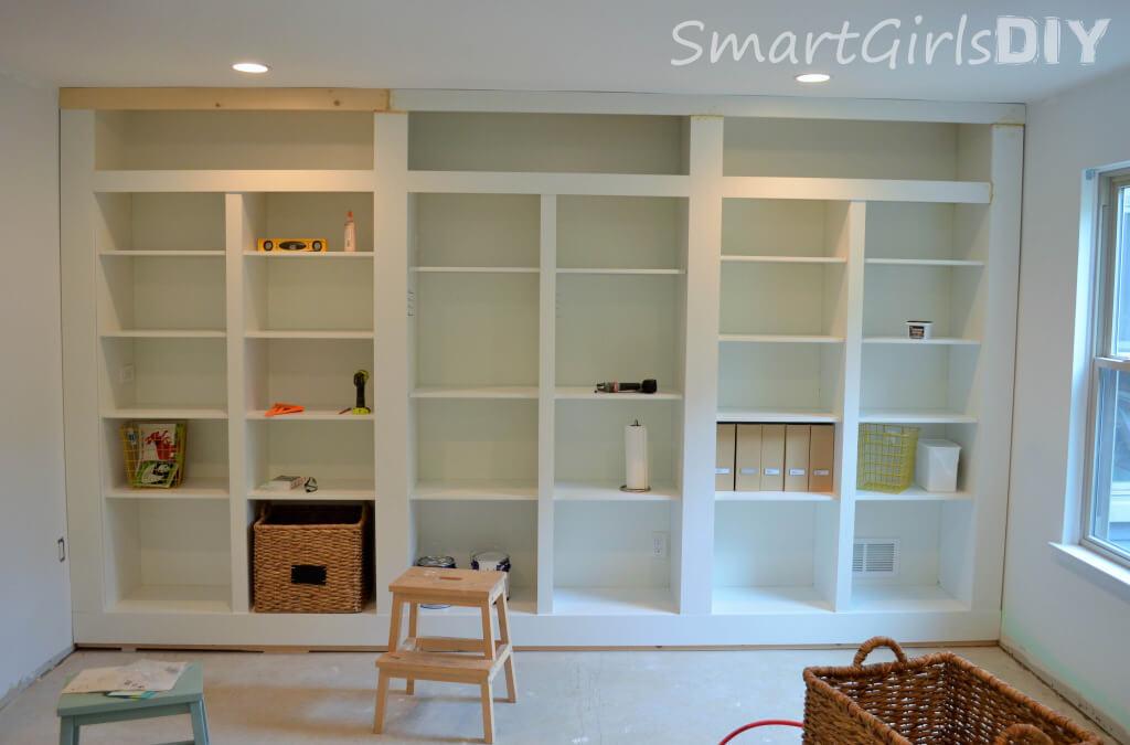 BESTA built-in shelves almsot finished