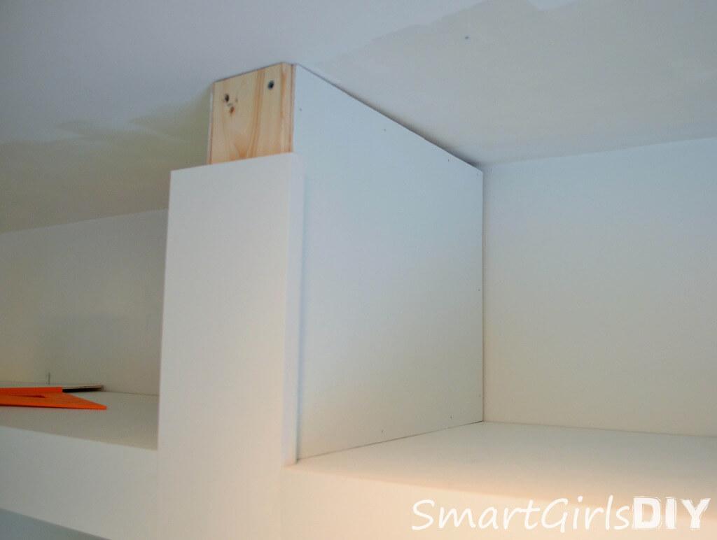 Making divider for top shelf - side2