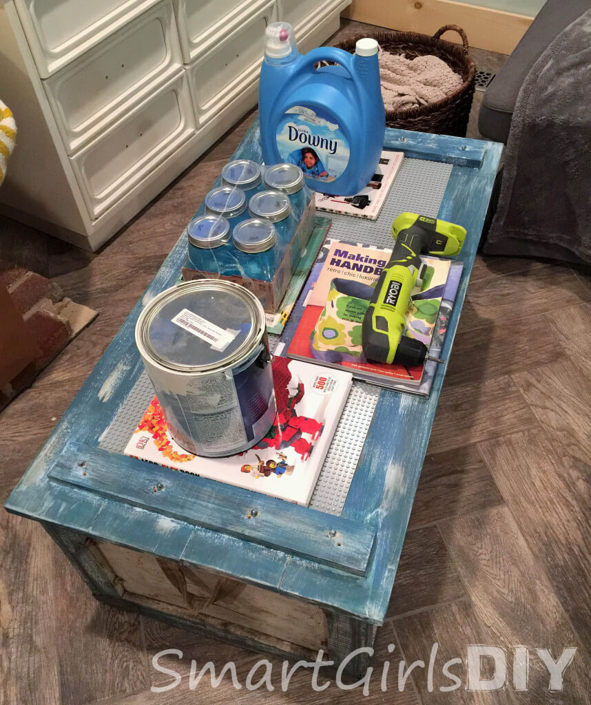 Attatching Lego baseplates to a coffee table top