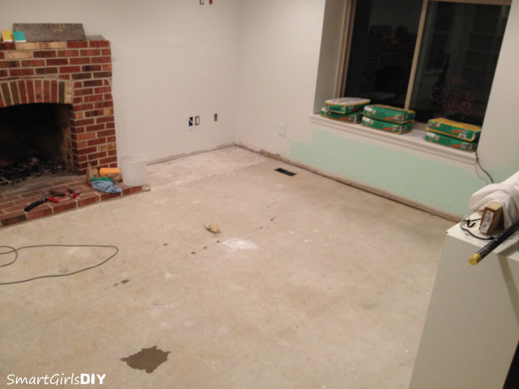 Concrete Subfloor prepped for self-leveler