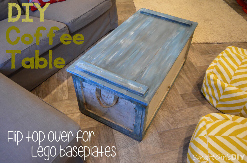 DIY Coffee Table - flip top over for LEGO baseplates