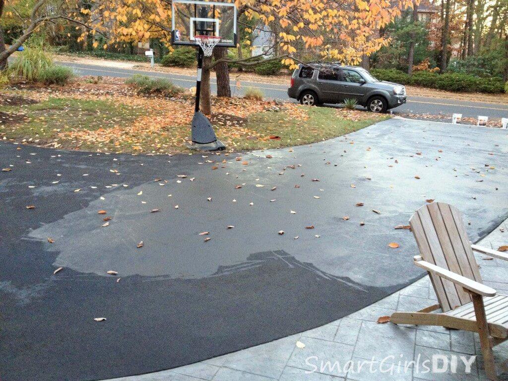 End of day 2 asphalt sealing