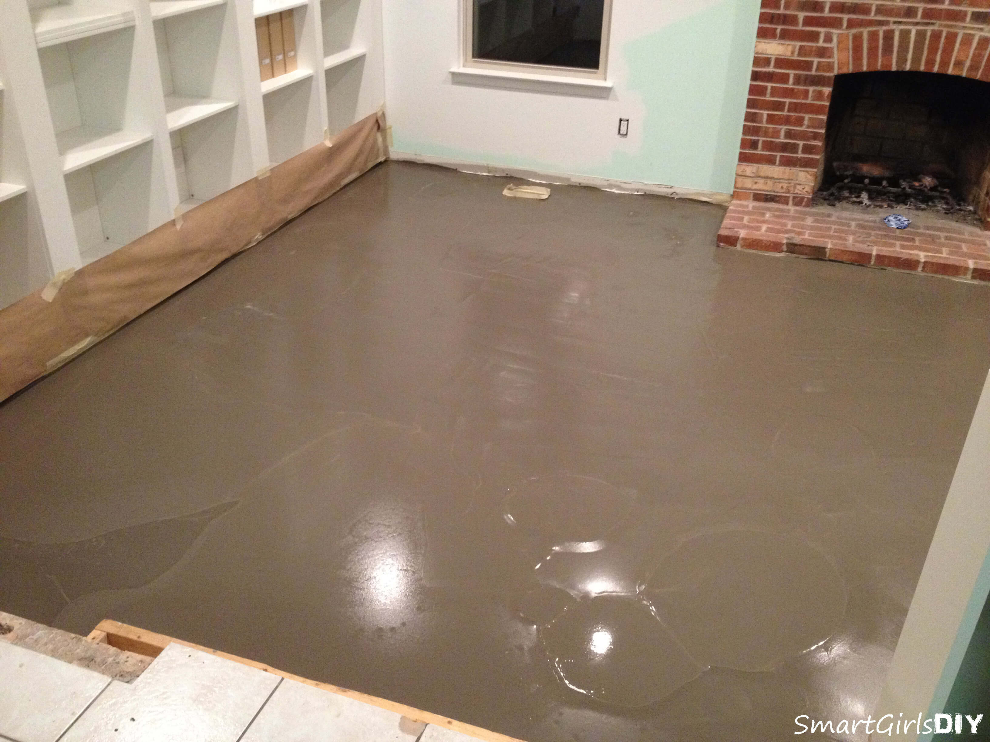 Self Leveling Flooring Service : I always wanted to try self leveler family room