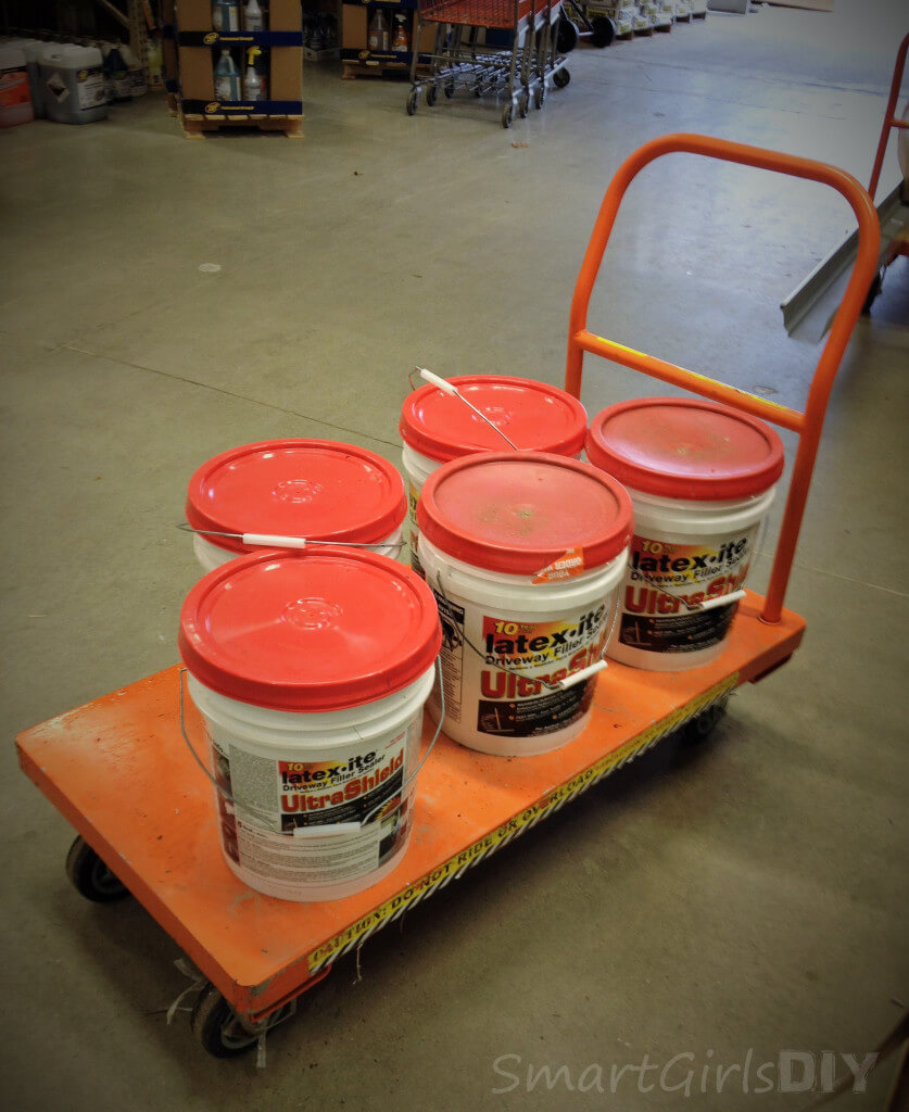 Latexite Ultrashield driveway filler and sealer - easy DIY