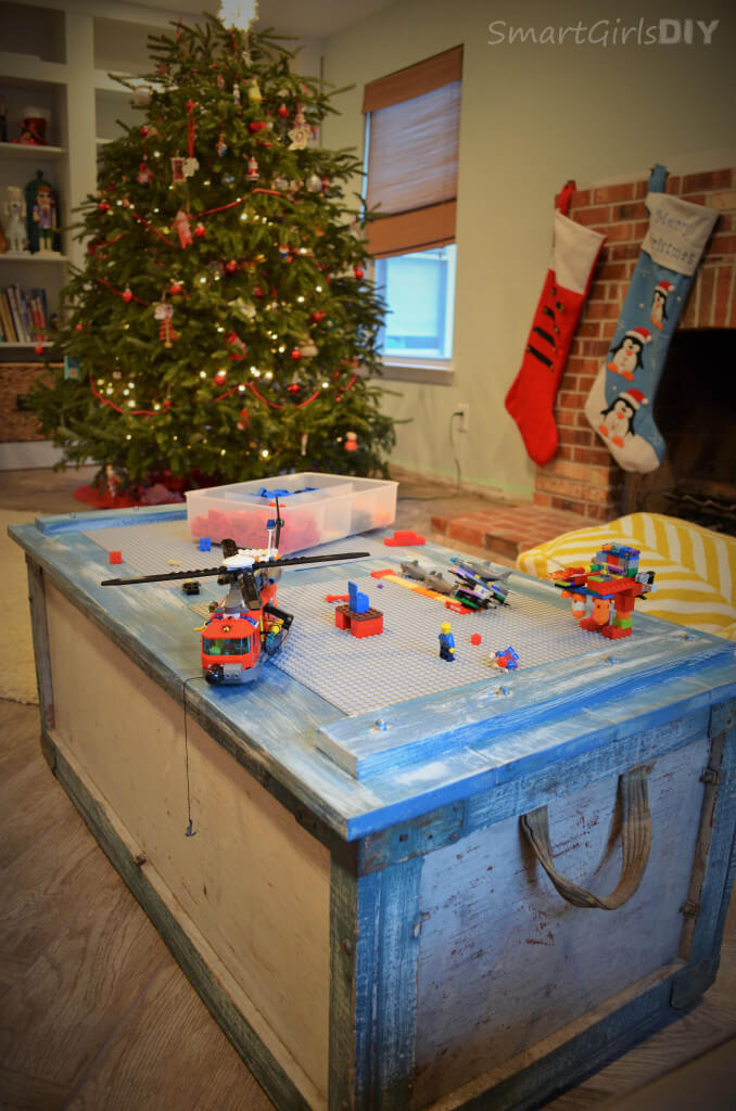 Lego Coffee table was perfect for our LEGO Christmas