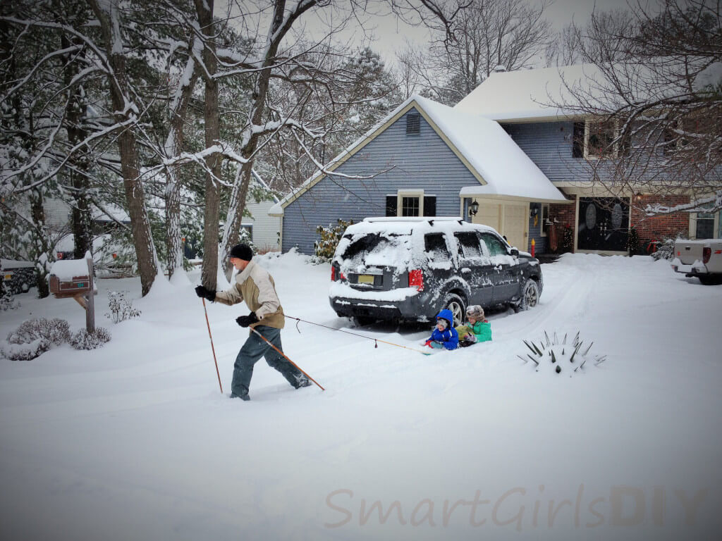 Snow filled driveway