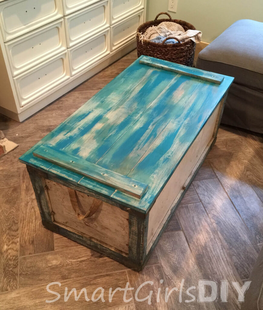 Trying to match the color of a vintage coffee crate turned coffee table