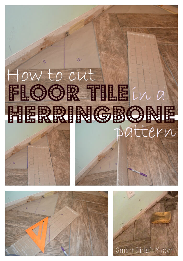How To Cut Floor Tile In A Herringbone Pattern