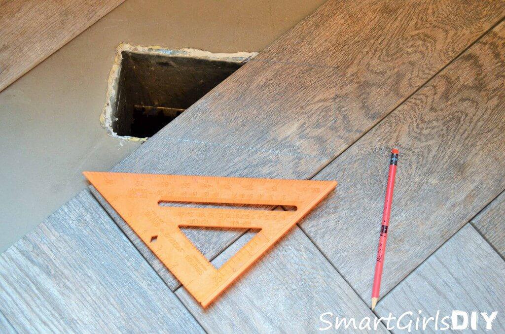 How to cut tile around floor vent