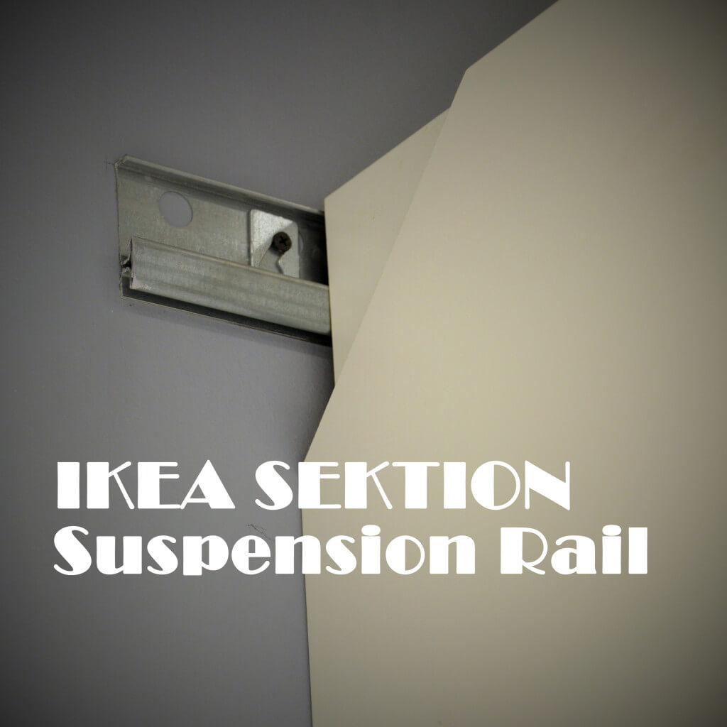 IKEA SEKTION suspension rail