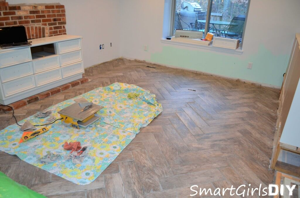 Last day of tiling - dry setting all floor tiles