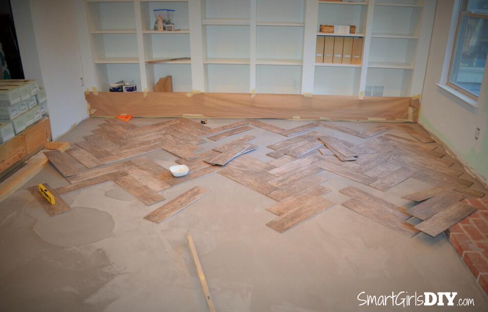 Laying Floor Tile In Herringbone Pattern Images