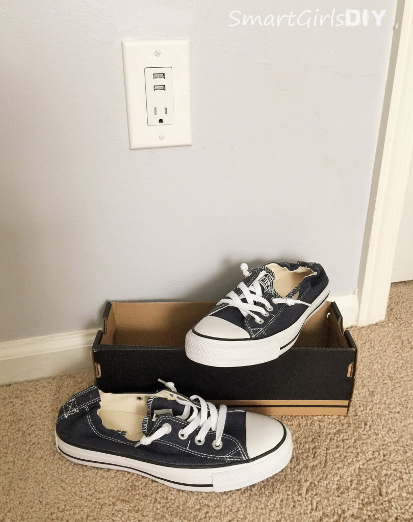 Perfect 13-year-old present is USB outlet and Converse