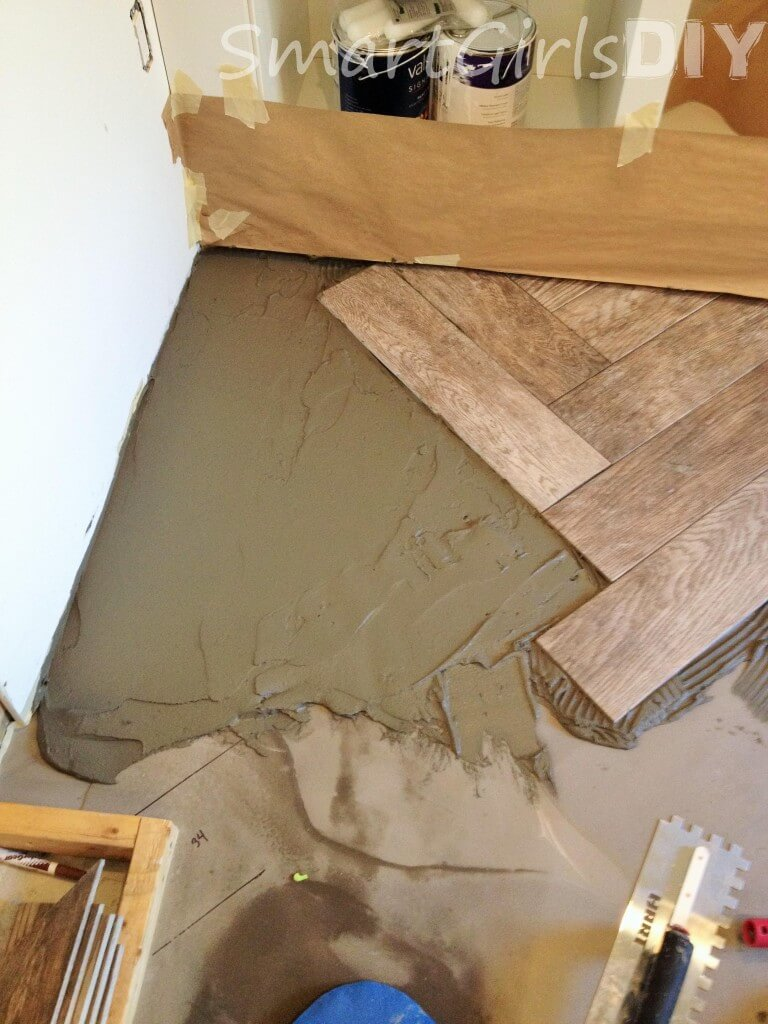 This was the deepest area - it required a thick layer of mortar before tiling