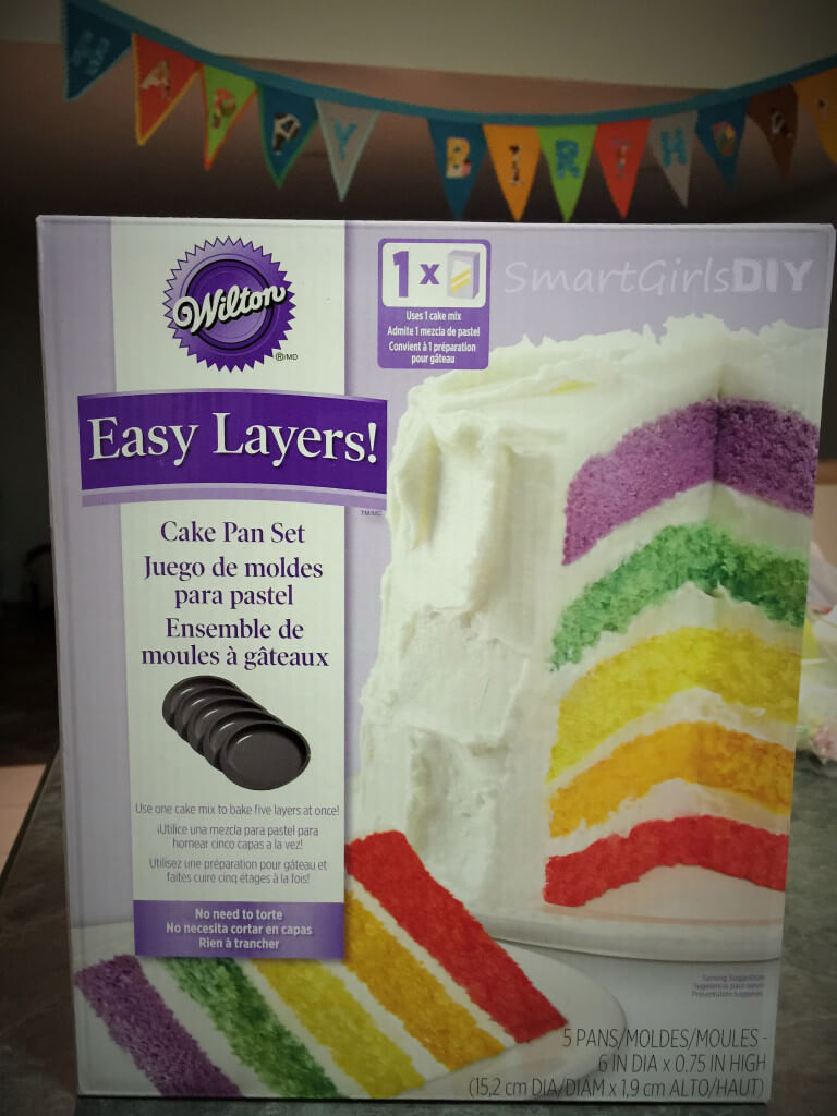 Wilton Easy Layers rainbox cake pans