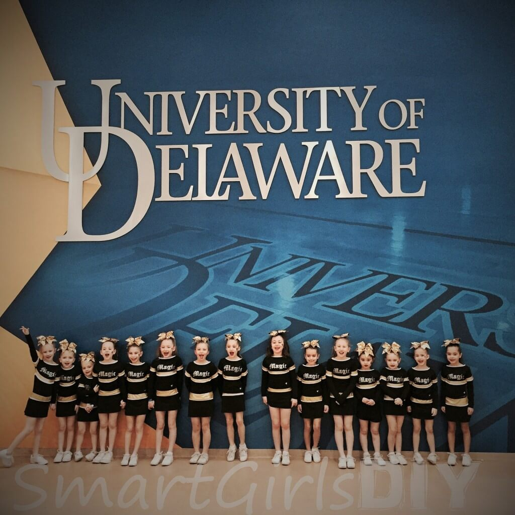 cheerleading competition at University of Delaware