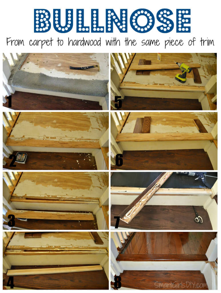 Bullnose - from carpet to hardwood with the same piece of trim