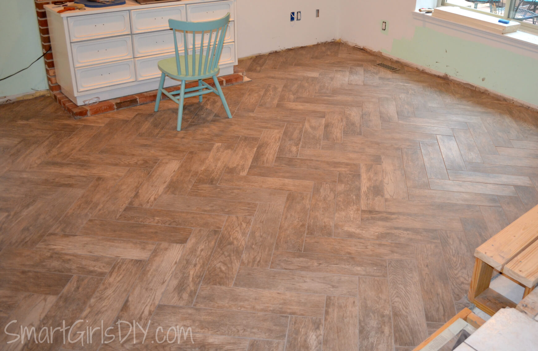 how to make a tile floor