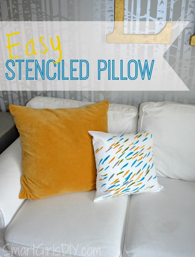 Easy Stenciled Pillow