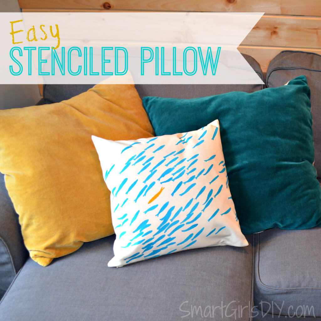 Easy to make Stenciled Pillows