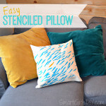 Easy Stenciled Pillows