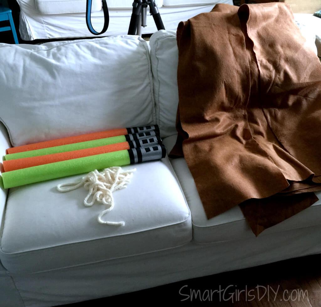 Pinterest inspired pool noodle light sabers