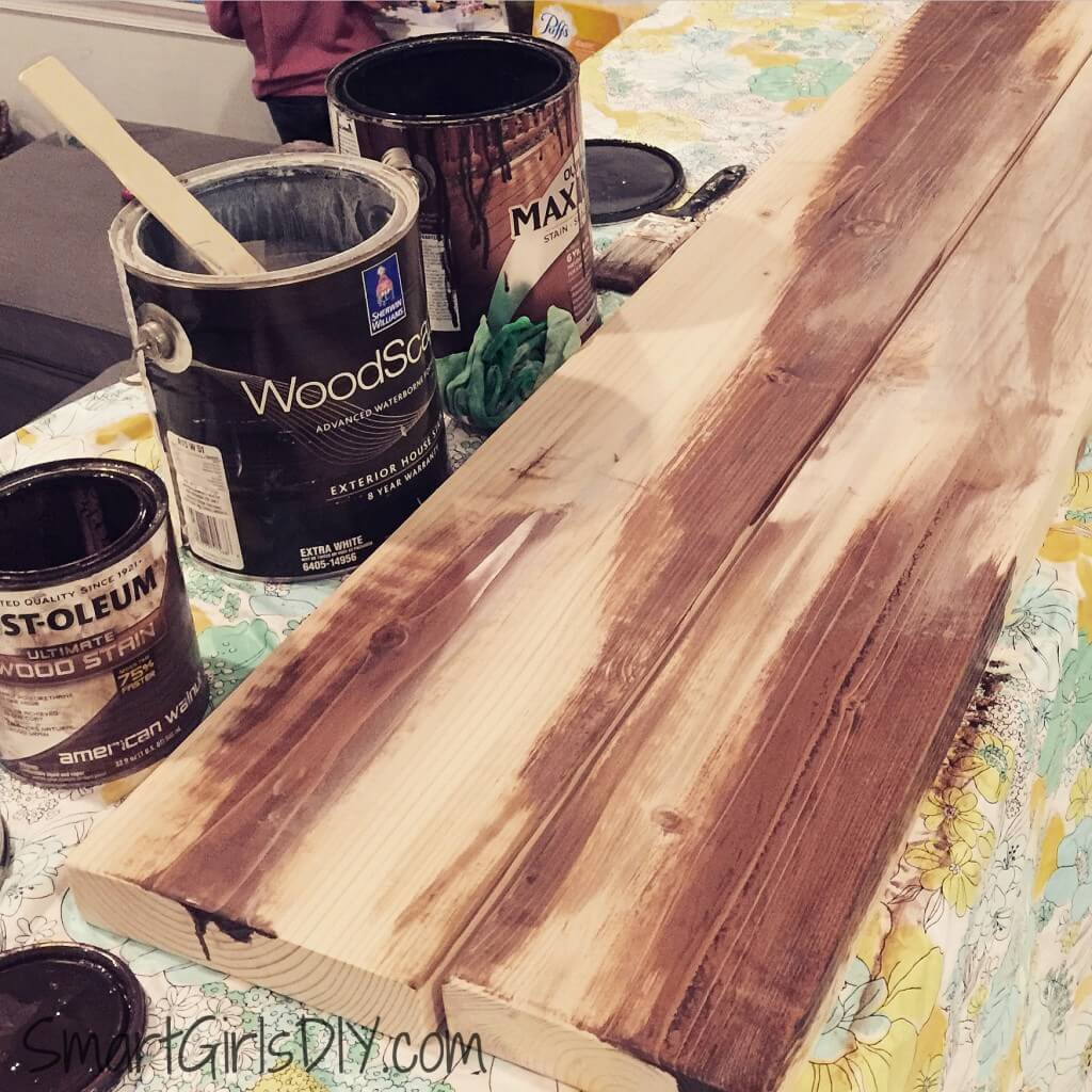 Using multiple stains on wood steps