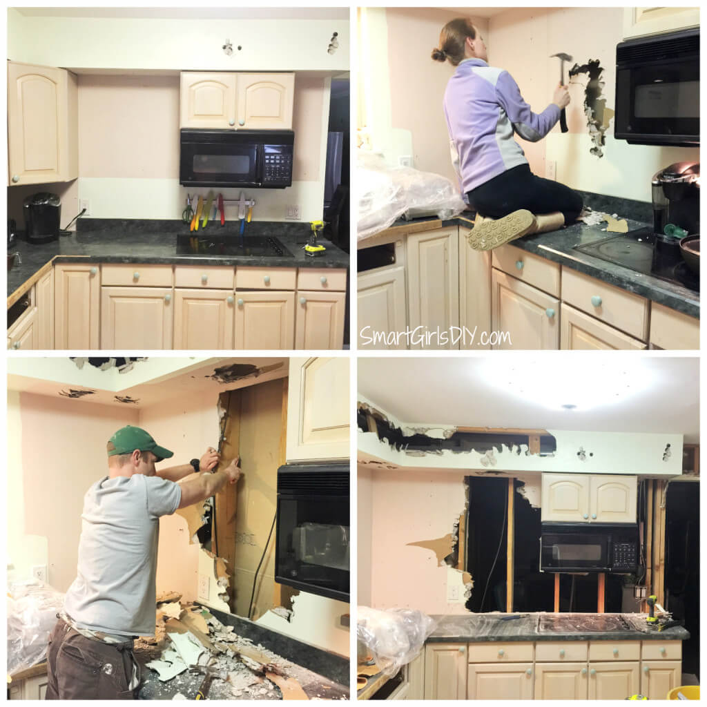 Husband and wife kitchen demo night - hey honey lets take down this wall