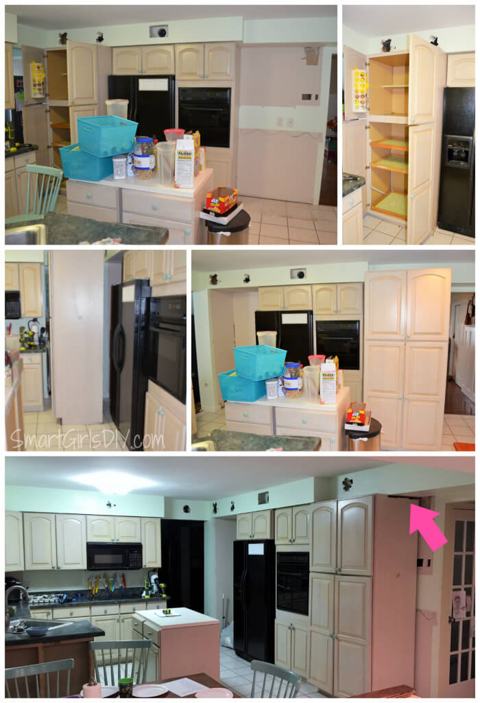 Kitchen remodeling - move the cabinets around to get an idea of what they will look like