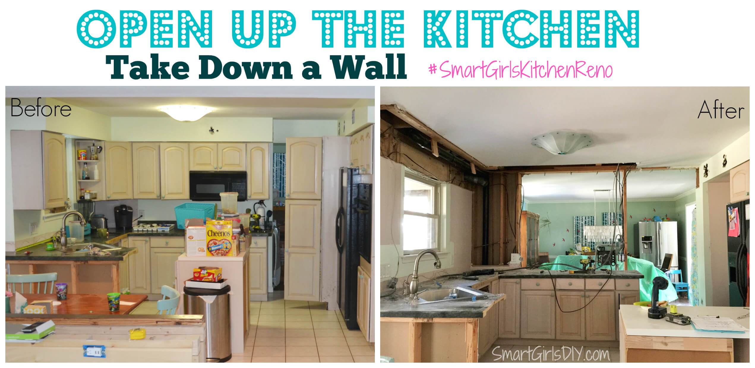 Open up the kitchen - take down a wall #smartgirlskitchenreno