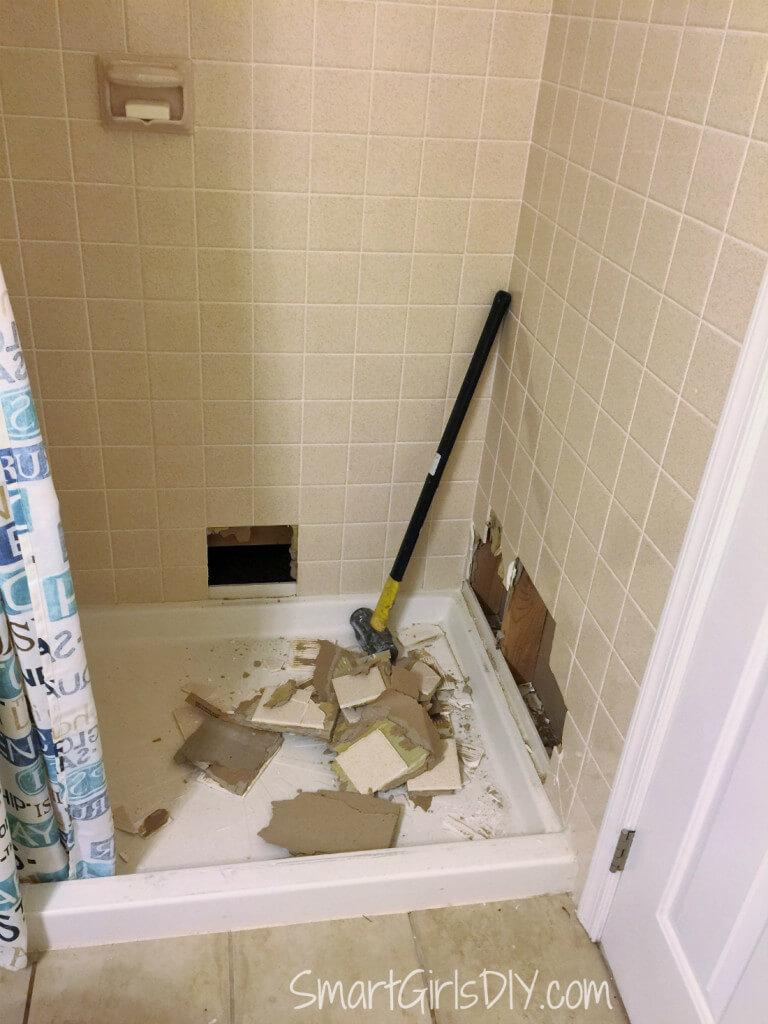Guest bathroom shower demo
