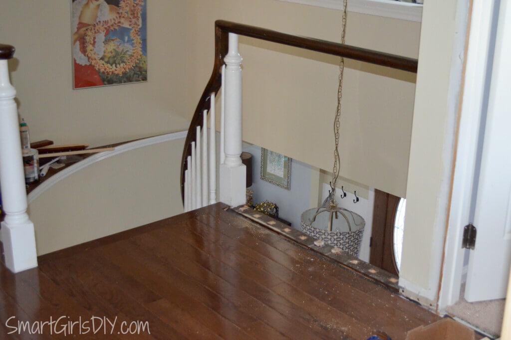 Replacing spindles during DIY hardwood floor install