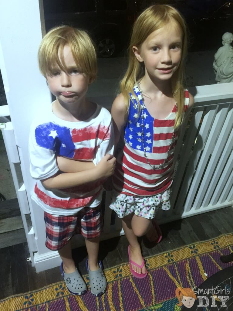 4th of July painted shirts