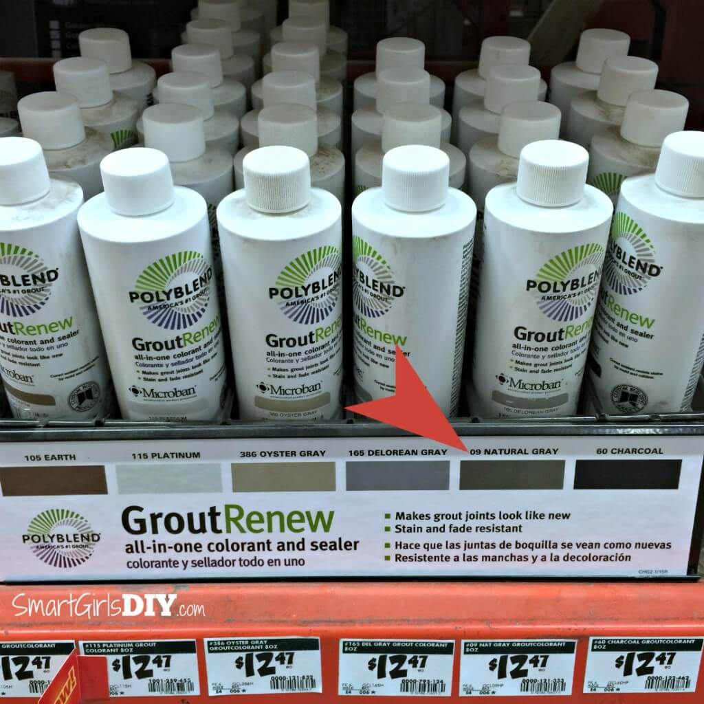If you need to change your grout color or make it look new again then use Polyblend Grout Renew found at Home Depot