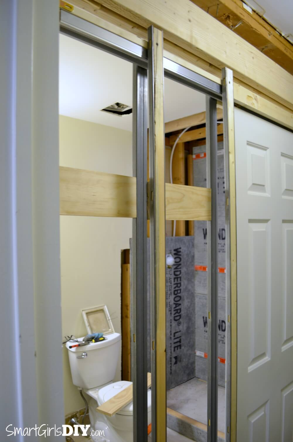 Installing Pocket Doors Bathroom : How to install a pocket door johnson hardware series