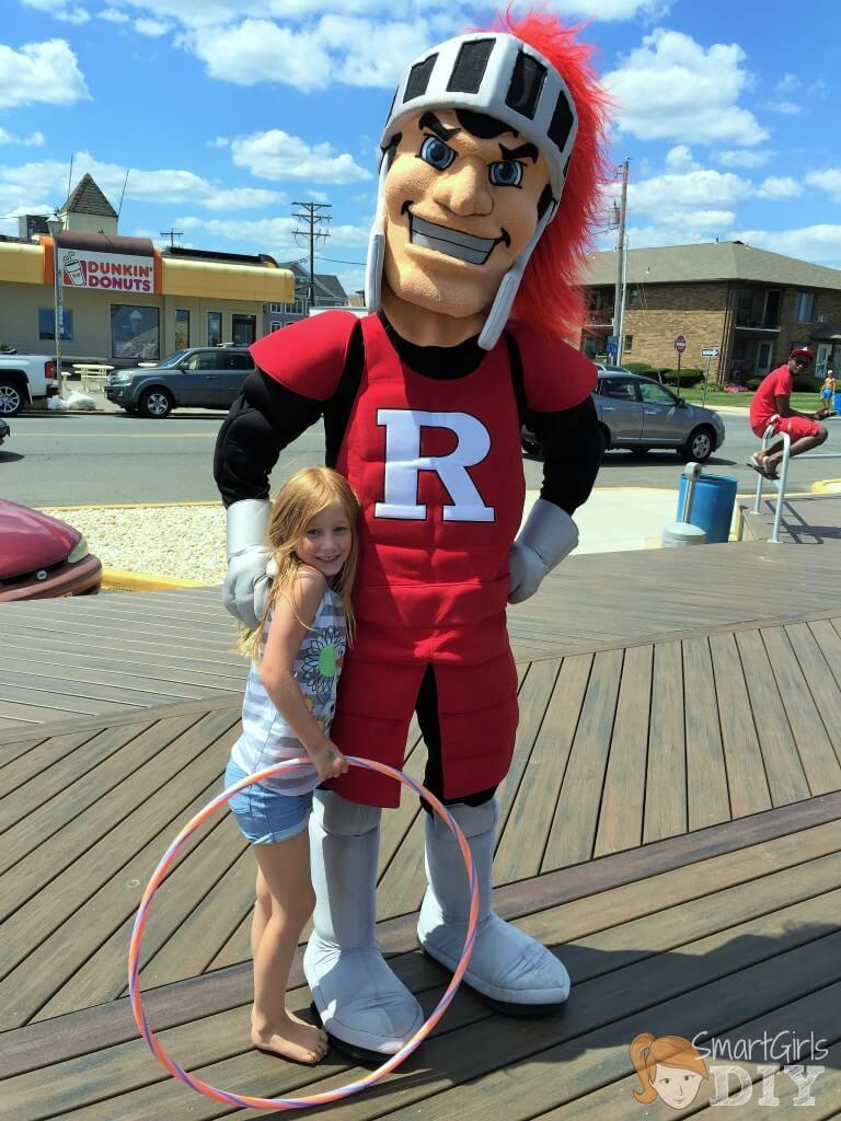 Running into the Rutgers Scarlet Night on the boardwalk in Belmar NJ