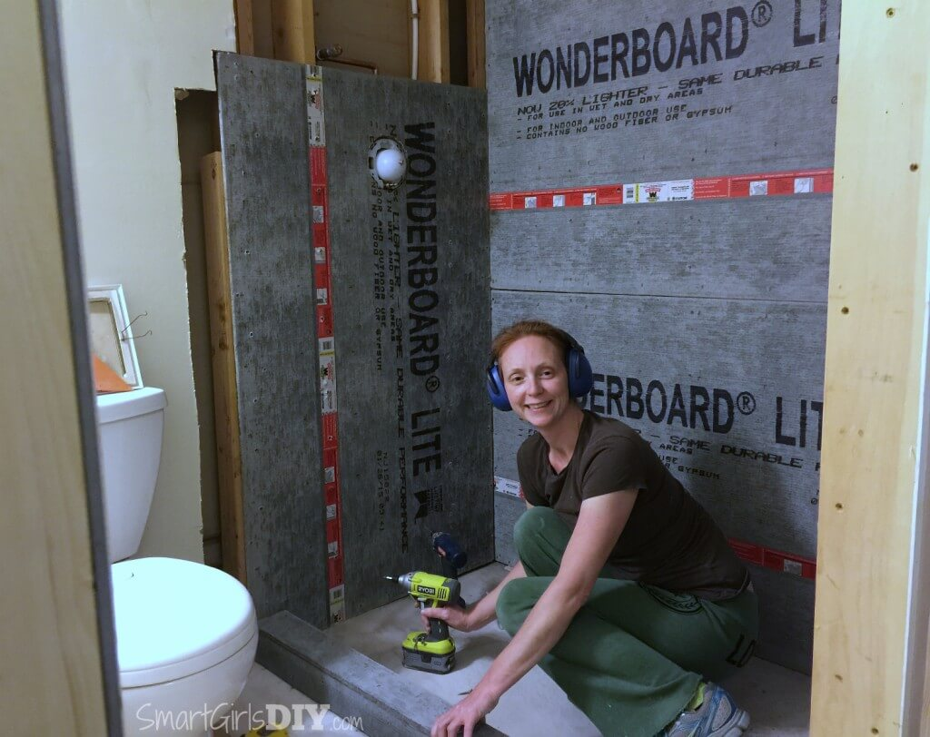 Building a shower curb before building a shower pan