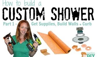 How to build a custom shower pan - get supplies, build the wall and curb
