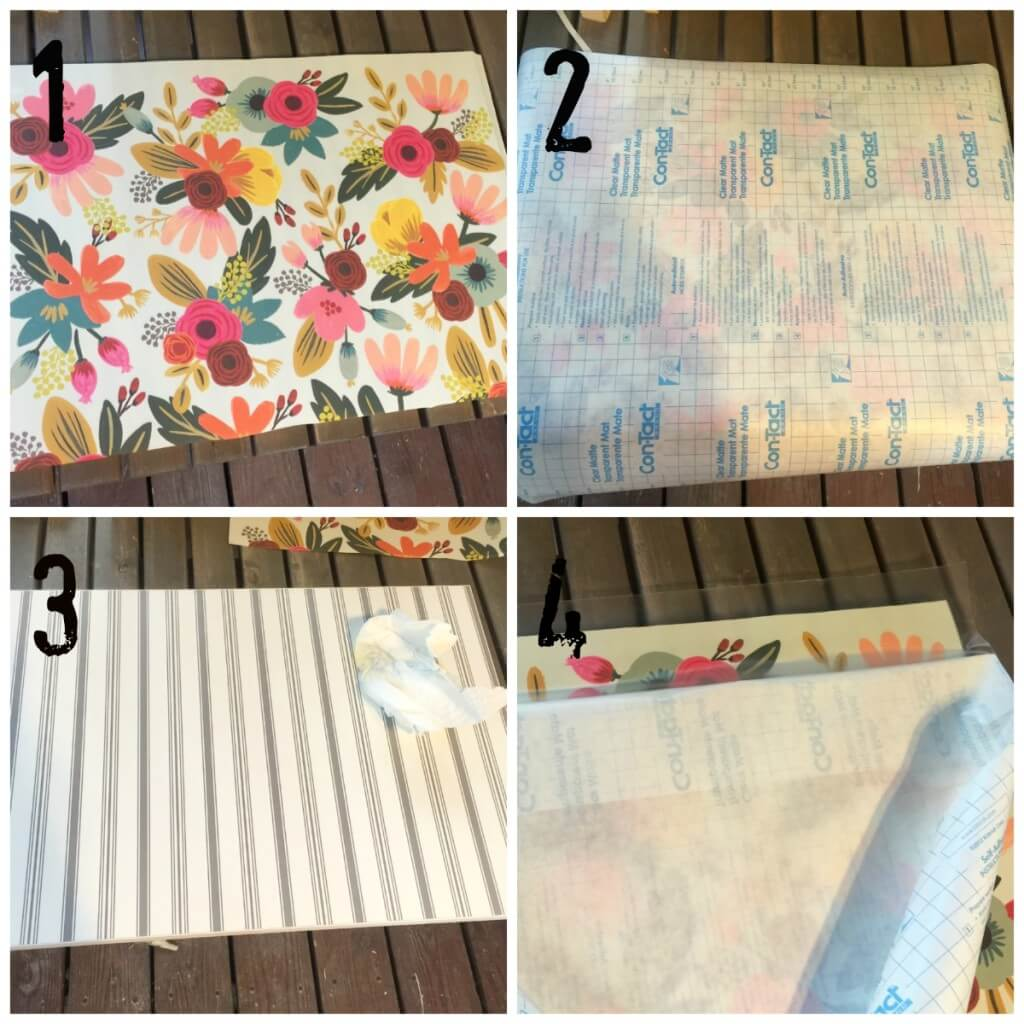 DIY decorative contact paper drawer liner