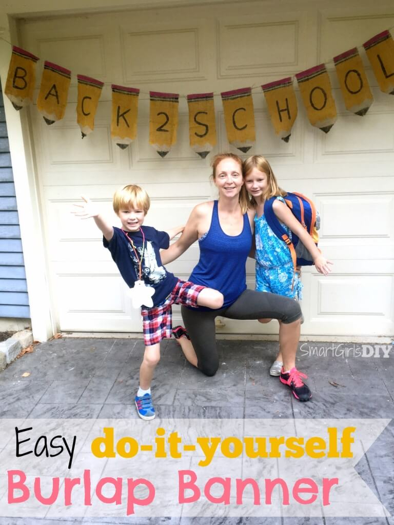 Easy do-it-yourself burlap banner by Smart Girls DIY