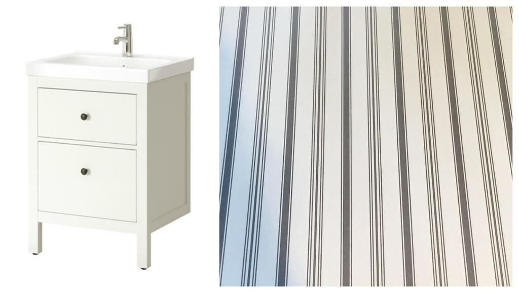IKEA HEMNES vanity and built-in drawer liner