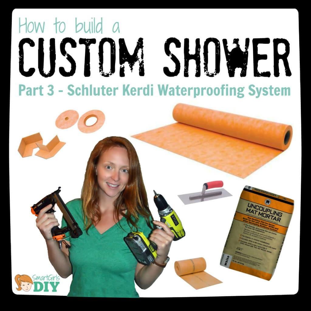 How to build a custom shower - Schluter Kerdi Waterproofing System
