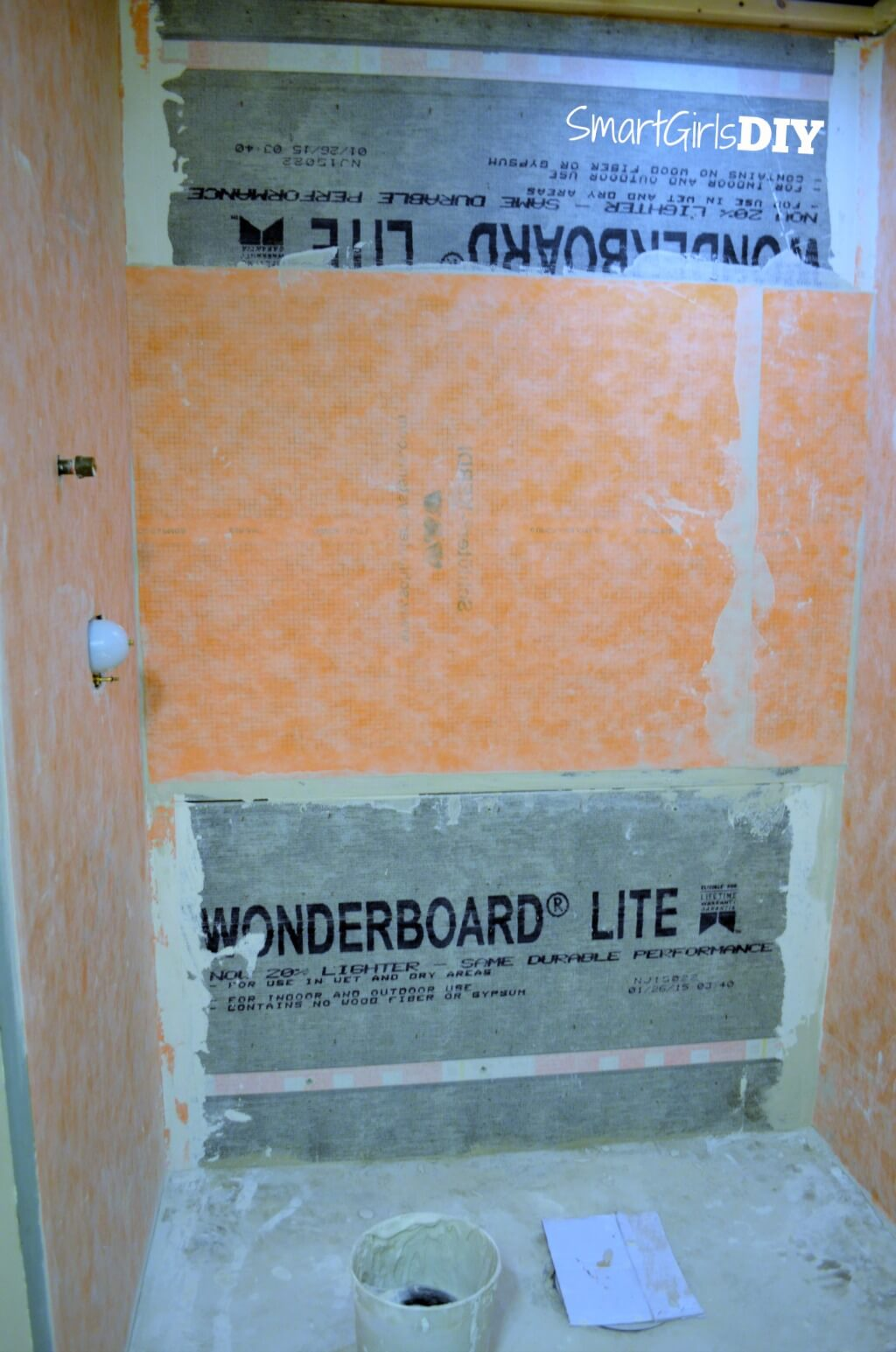 Schluter Kerdi installed in shower