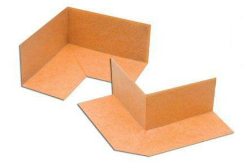 Schluter Kerdi preformed waterproof corners