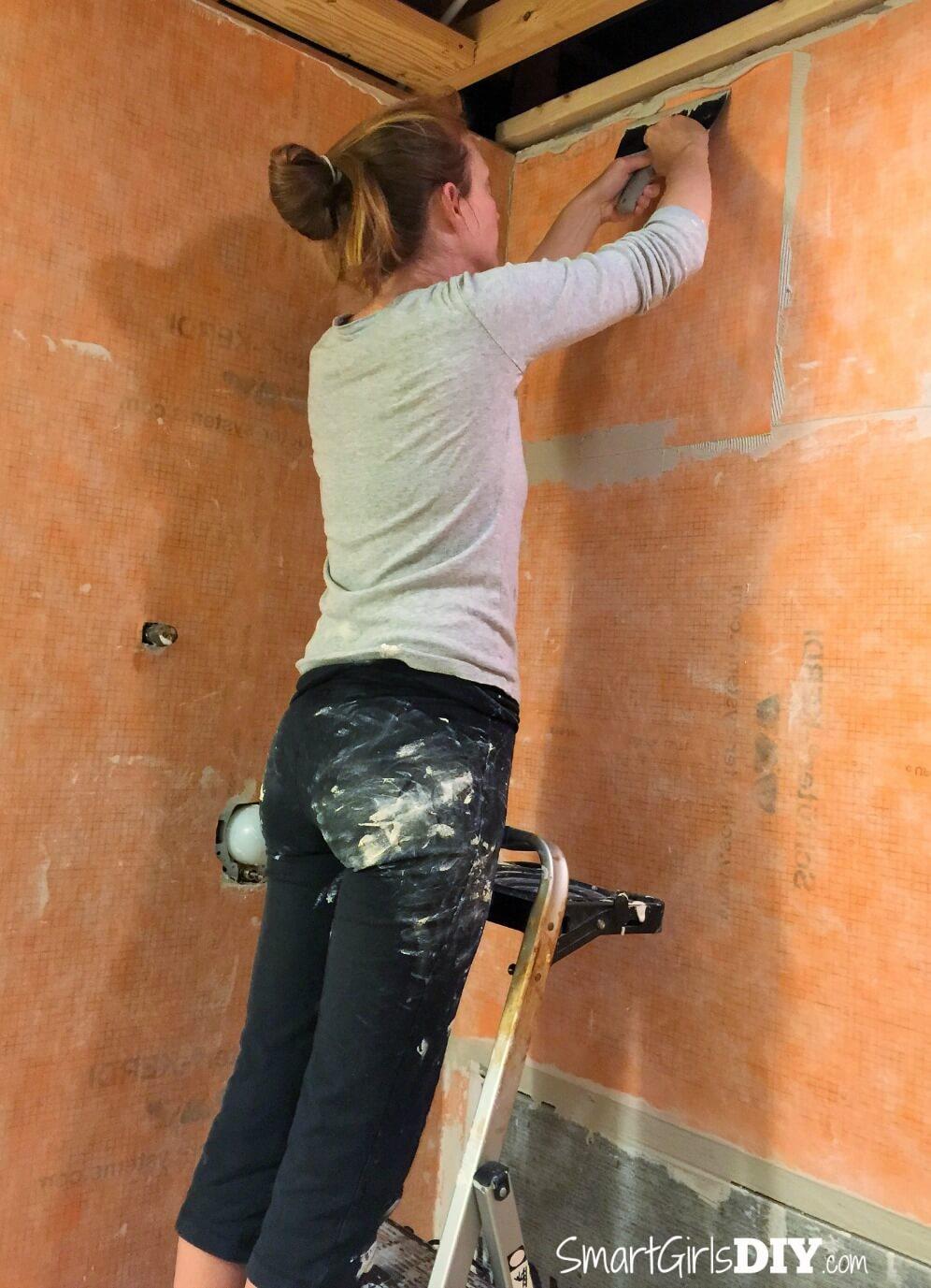 Smart Girls DIY Installing Schluter Kerdi