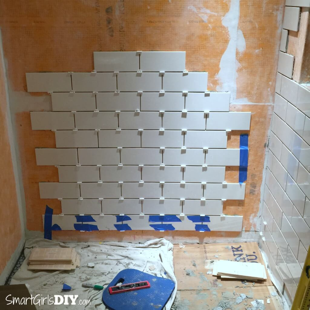 Subway tiles with T-spacers
