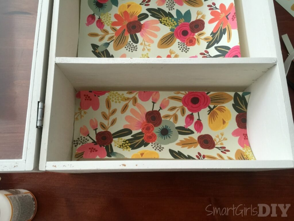 Cut paper to fit BEFORE you apply mod podge